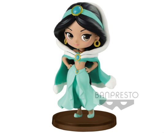 Q Posket Little Girls Festival Disney Figurine Jasmine Winter Costume