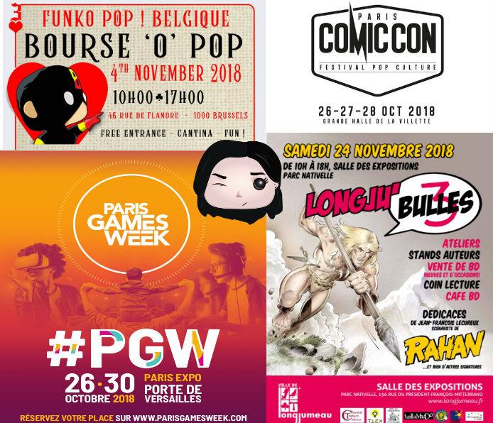 🎉Les rendez-vous rencontre Octobre/Novembre GeekOuPop!?! 🎉
