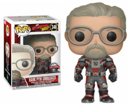 Ant-Man & The Wasp Pop! Vinyl Figurine Hank Pym Unmasked EXCLU