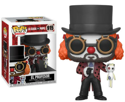 La Casa De Papel Pop! Vinyl Figurine Professor O Clown - GeekOuPop