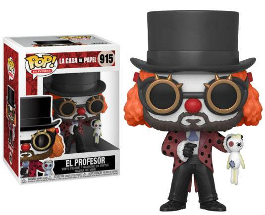 La Casa De Papel Pop! Vinyl Figurine Professor O Clown - GeekOuPop