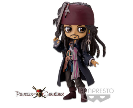 Pirates des Caraïbes Q Posket Jack Sparrow version B 14cm